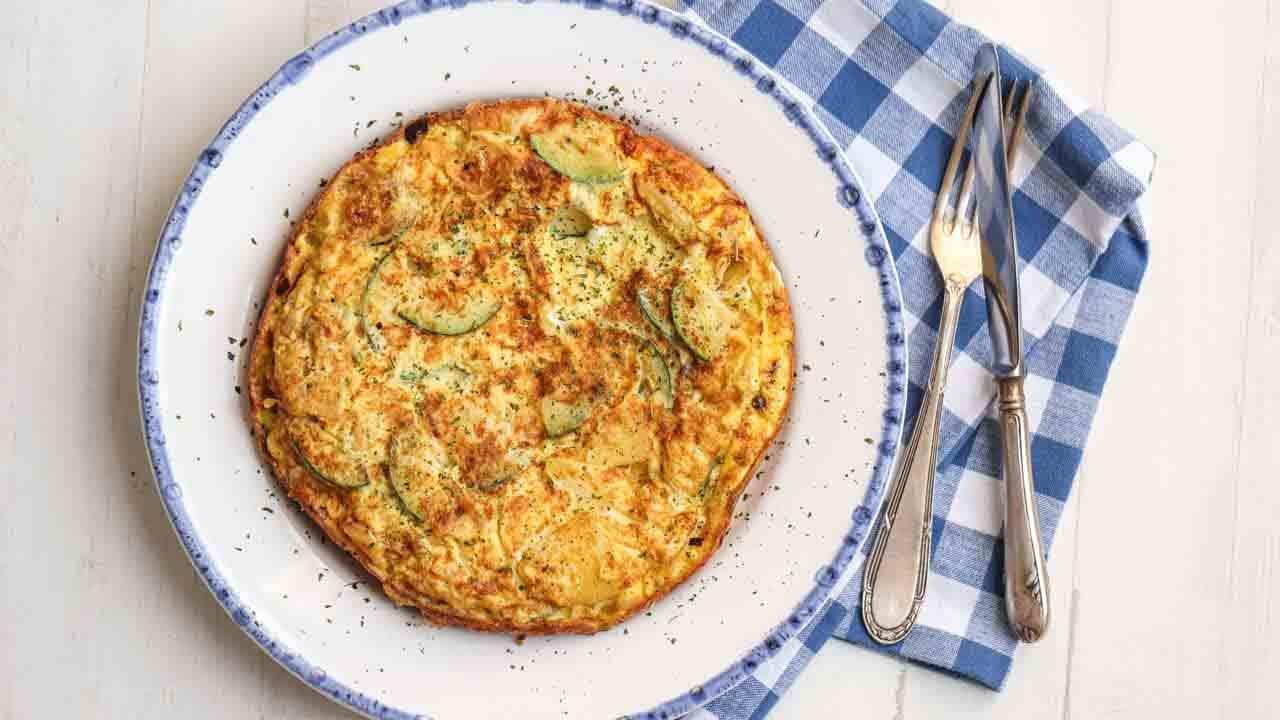 spanish courgette tortilla