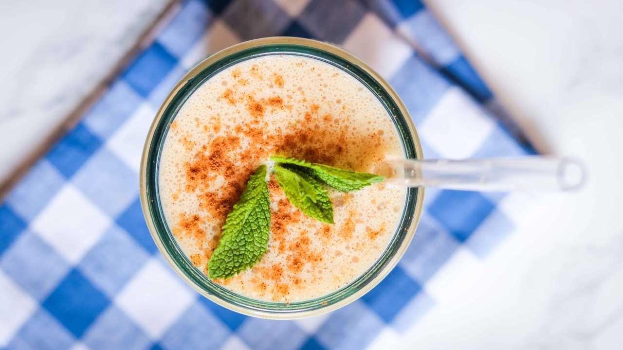 vanilla coffee protein smoothie