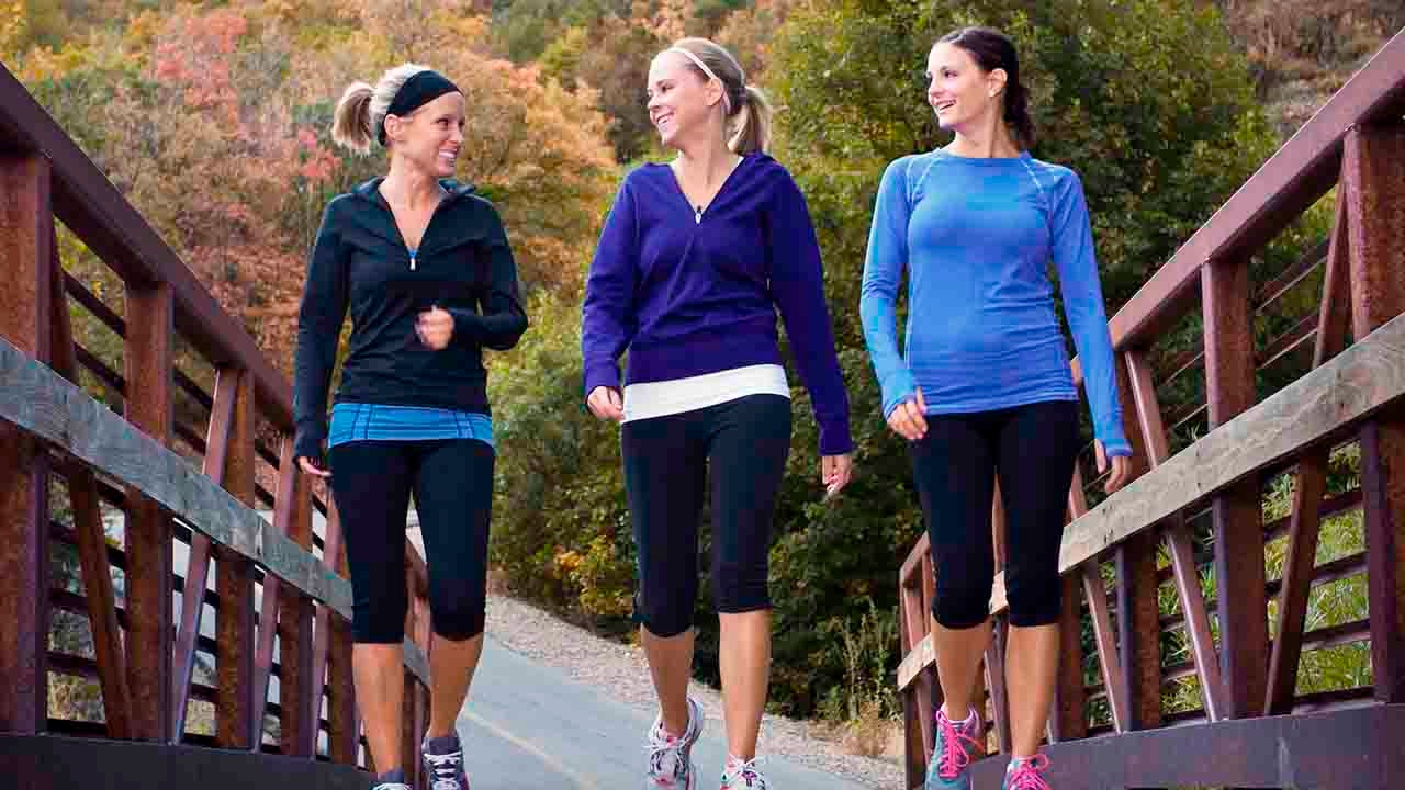 women walking outdoors together