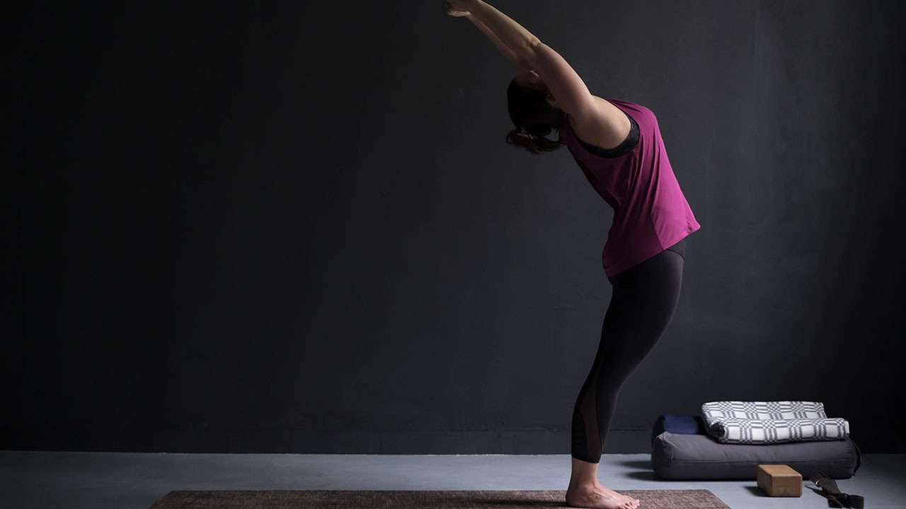 woman doing backbend