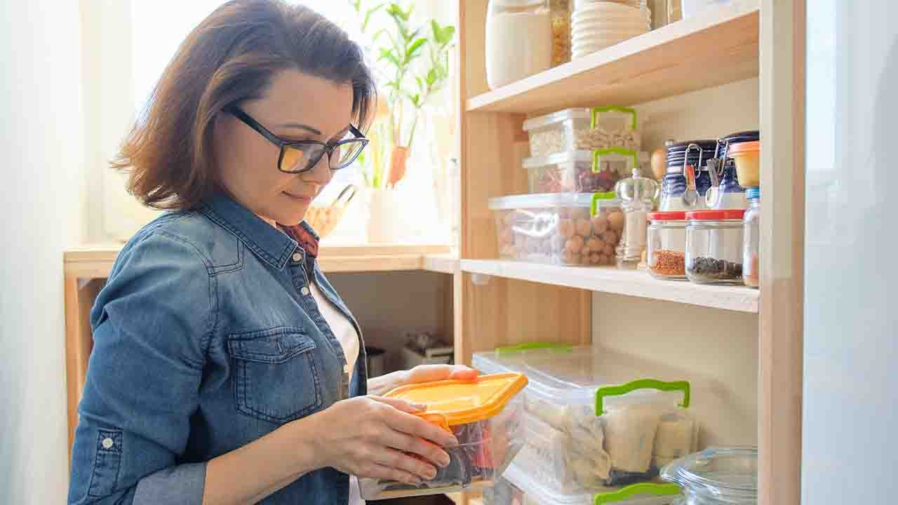 woman with pantry