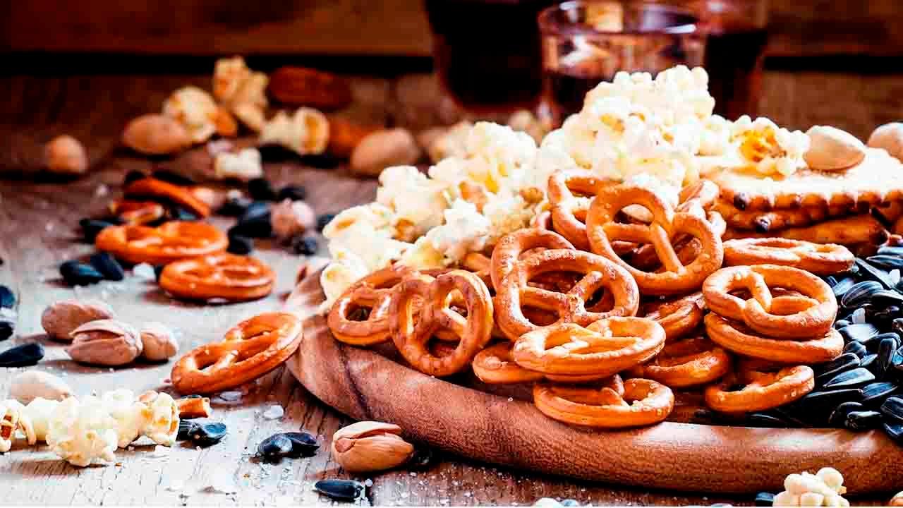pocorn and pretzels