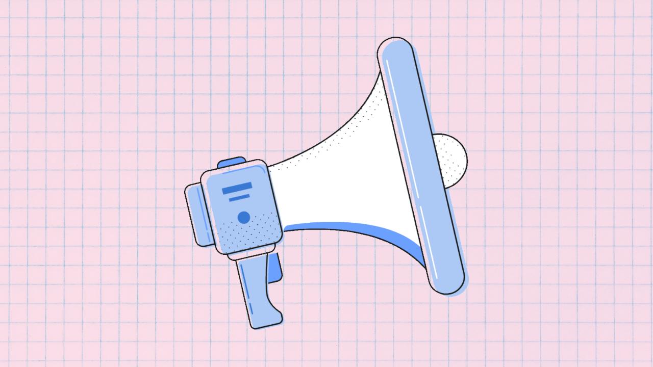 Illustration of megaphone promoting repurposing content for agencies