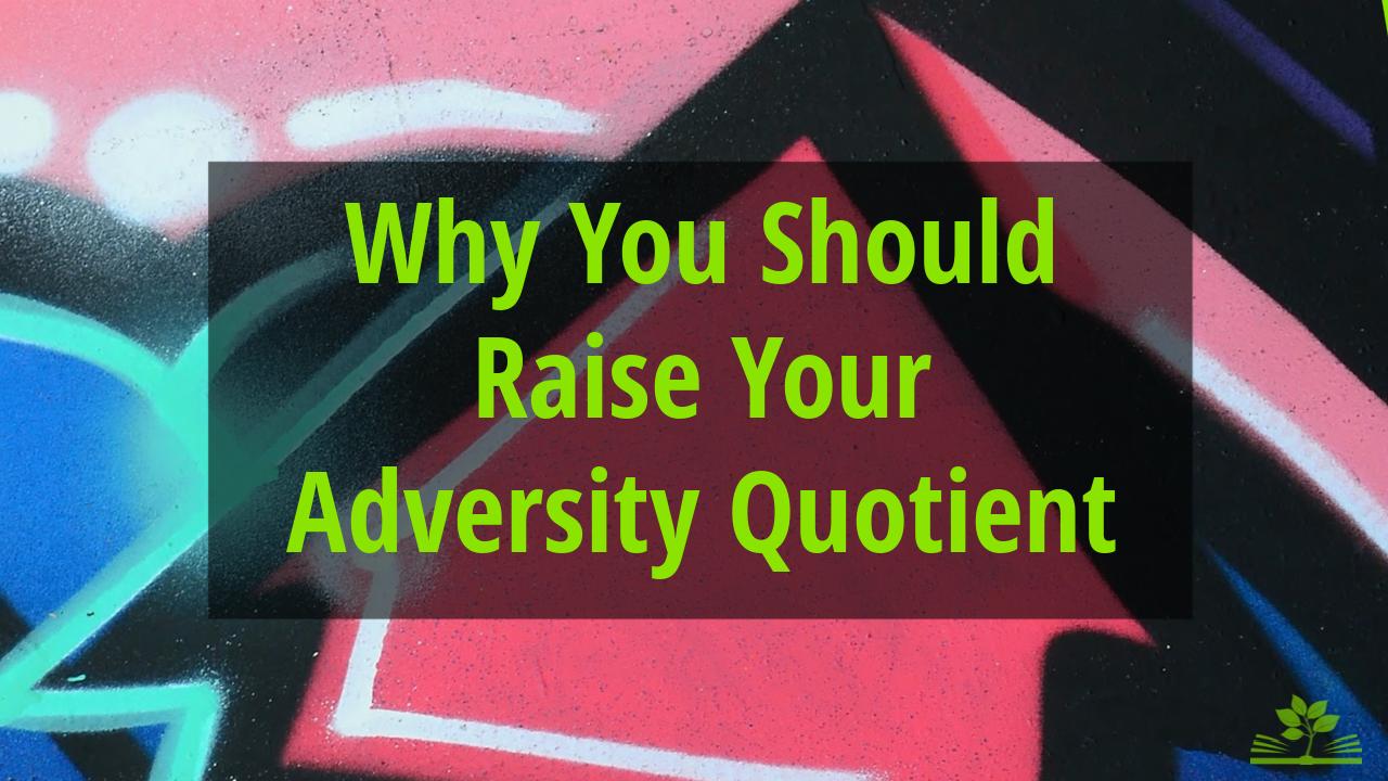 Raise your adversity quotient - graffiti arrow