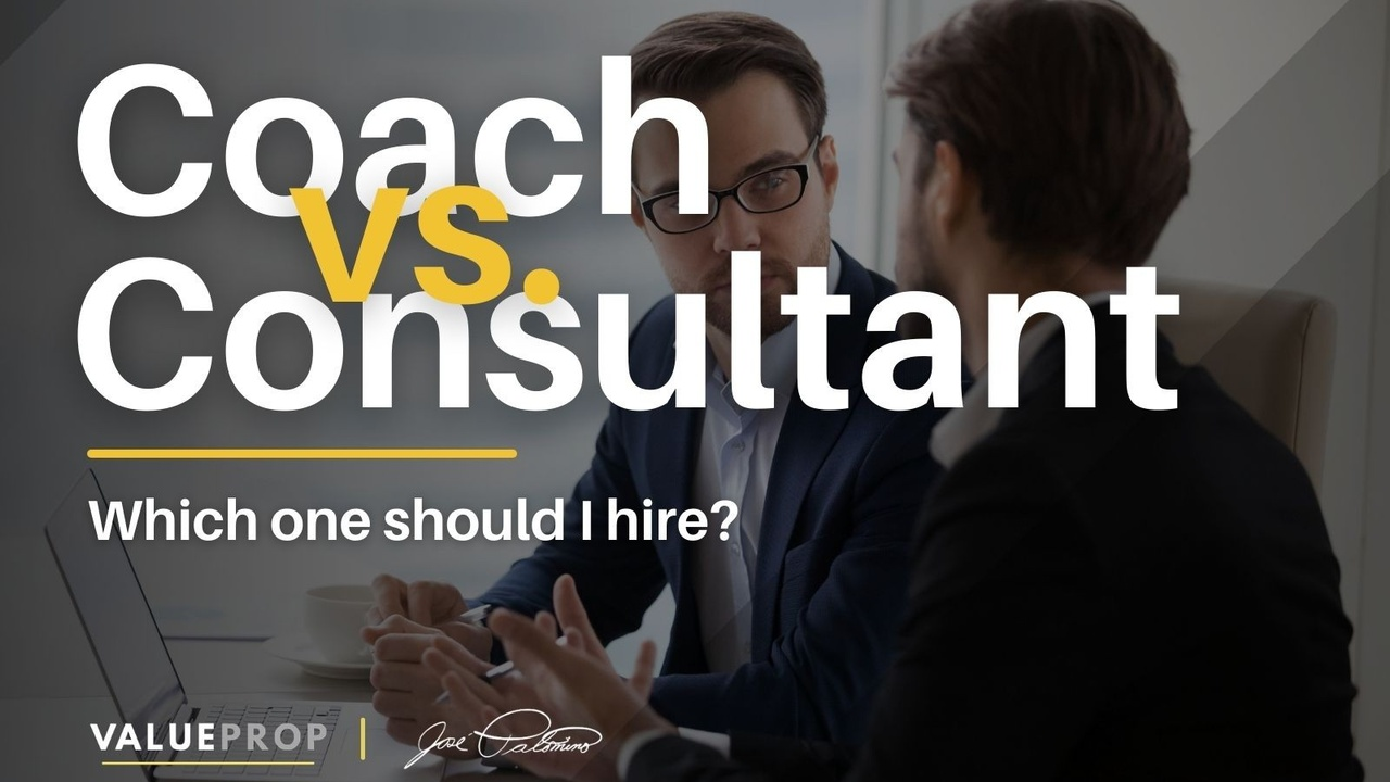 difference between a business coach and a business consultant which one should i hire