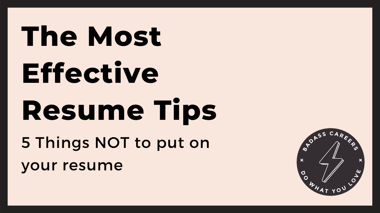 resume tips what not to do