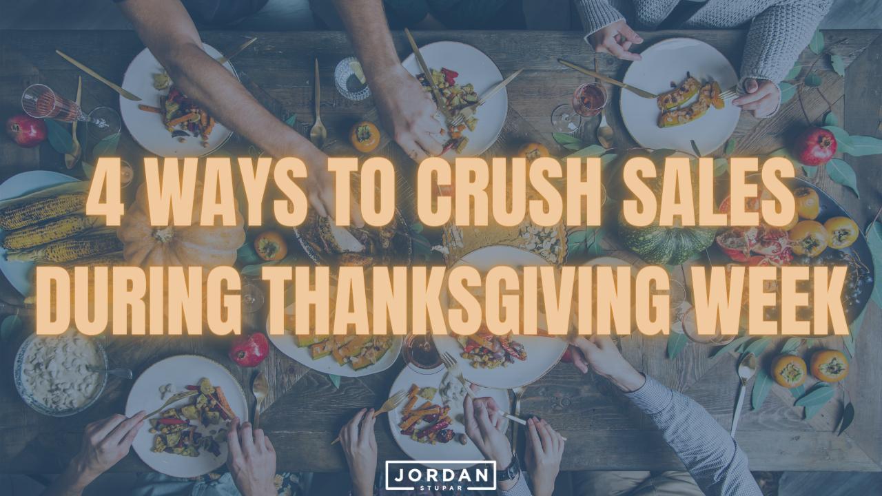 Crush Sales During Thanksgiving