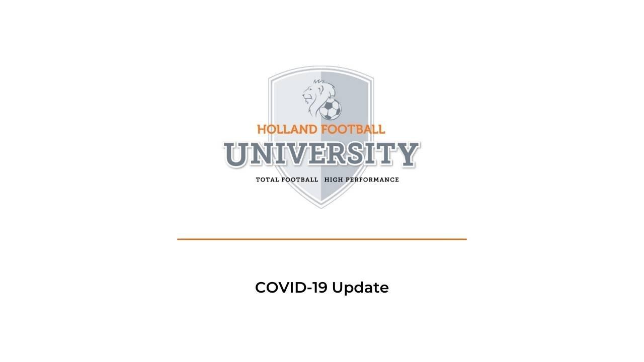 COVID-19 Update Holland Football University