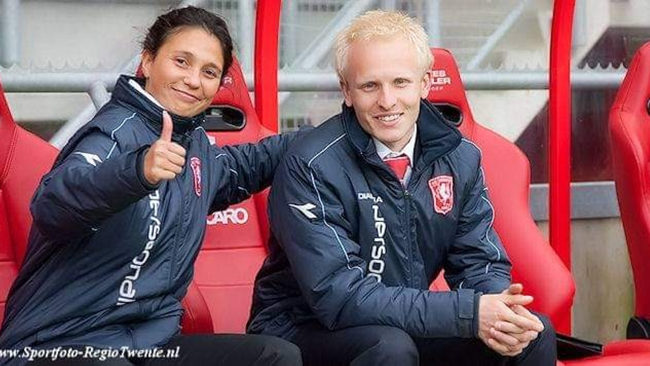 Mary Kok-Willemsen and Arjan Veurink at FC Twente.