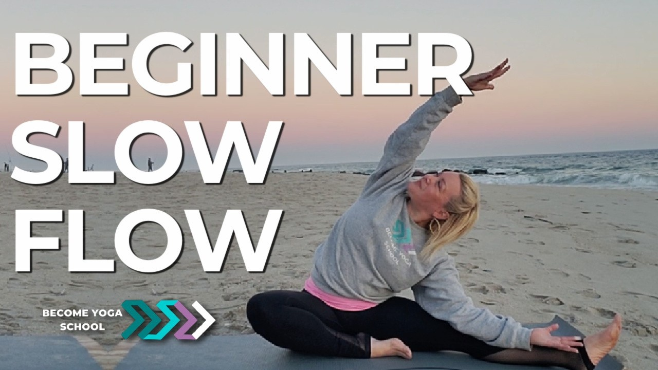 yoga woman in side bend pose beach sunset yoga become yoga school yoga instructor