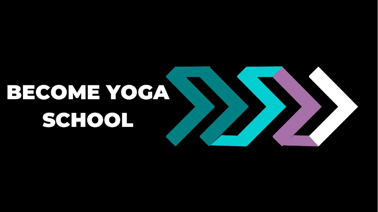 Online Yoga Teacher Training BYS Logo Three Arrows Teal Purple White Leading to the Right