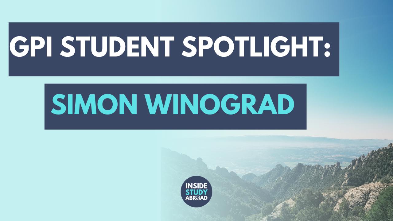 Simon Winograd - Global Pro Institute Student Spotlight - Inside Study Abroad