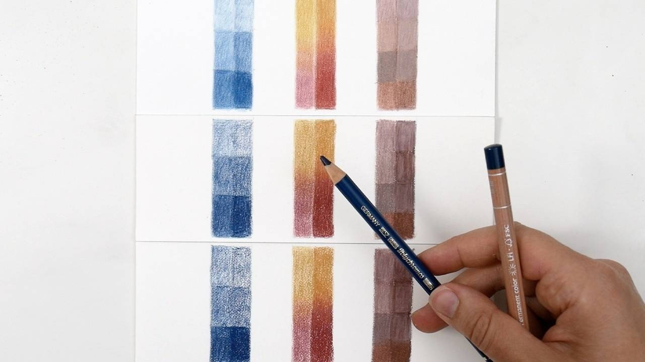 How to blend with Colored Pencils