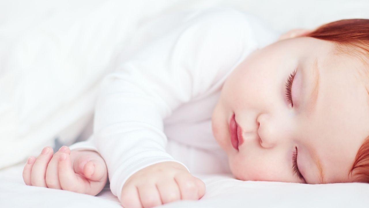 Baby taking short nap