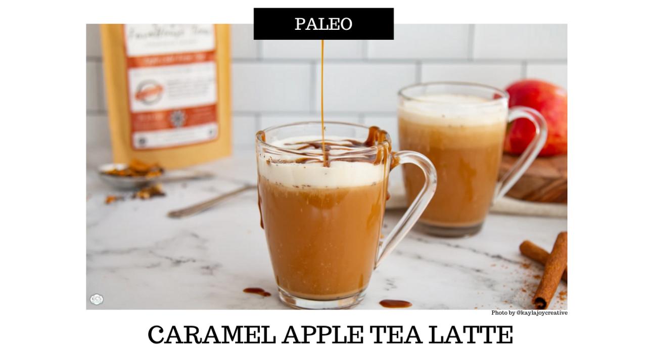 Paleo Caramel Apple Tea Latte