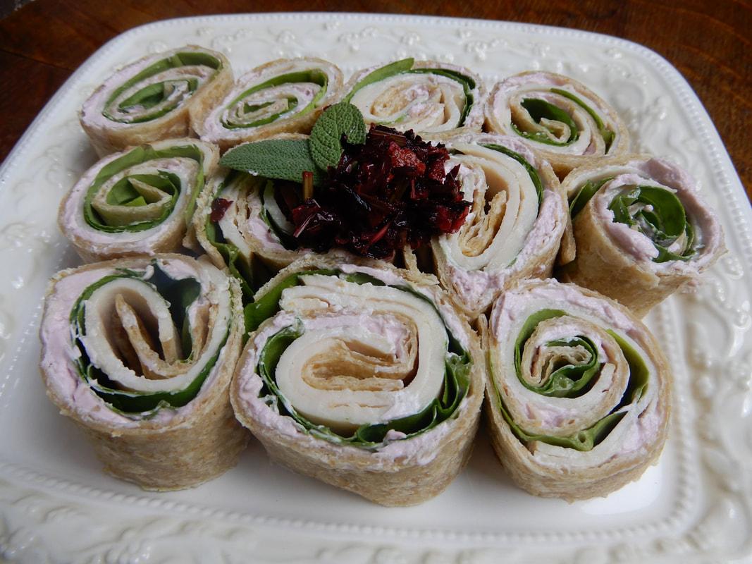 Tea Infused Turkey Pinwheels