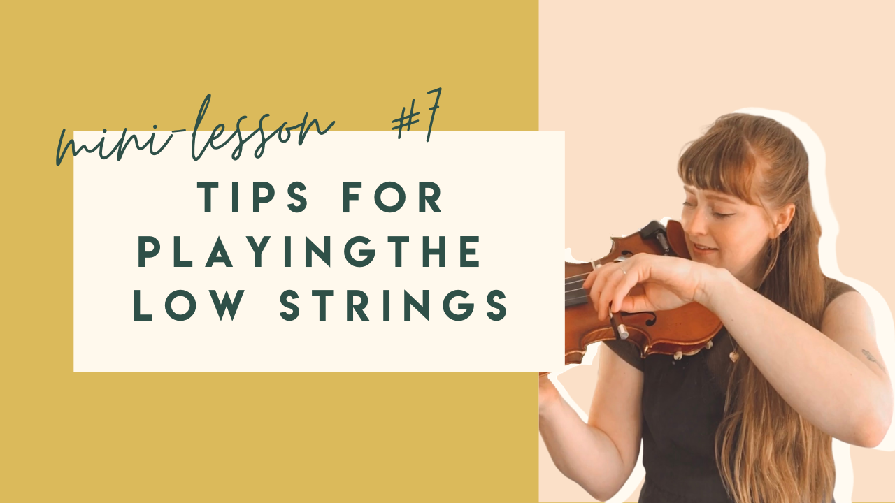Tips for playing the lower violin strings