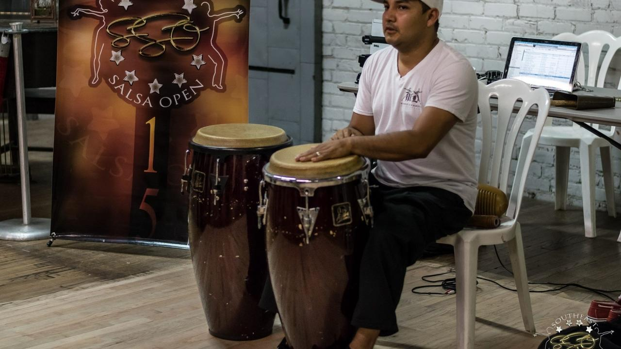 latin music drummer On2 beat