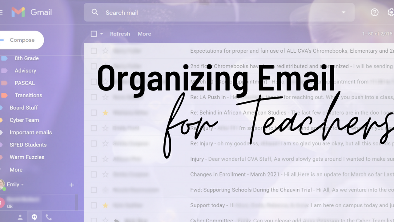 Organizing Email for Teachers!