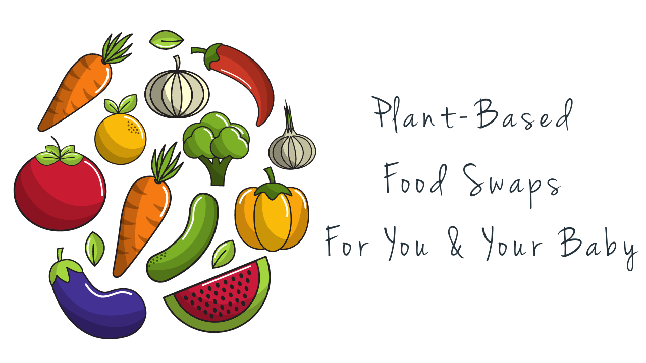 title page - plant based food swaps for you and your baby