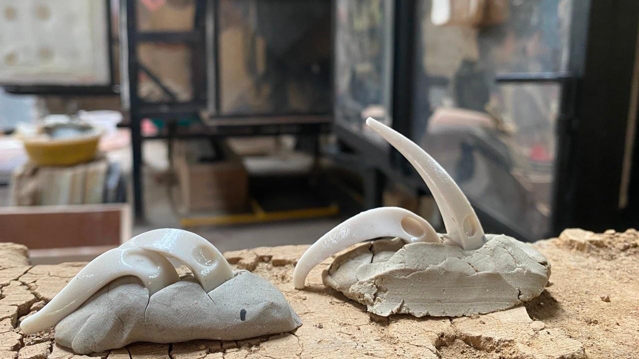 bränna keramikugn med käglor