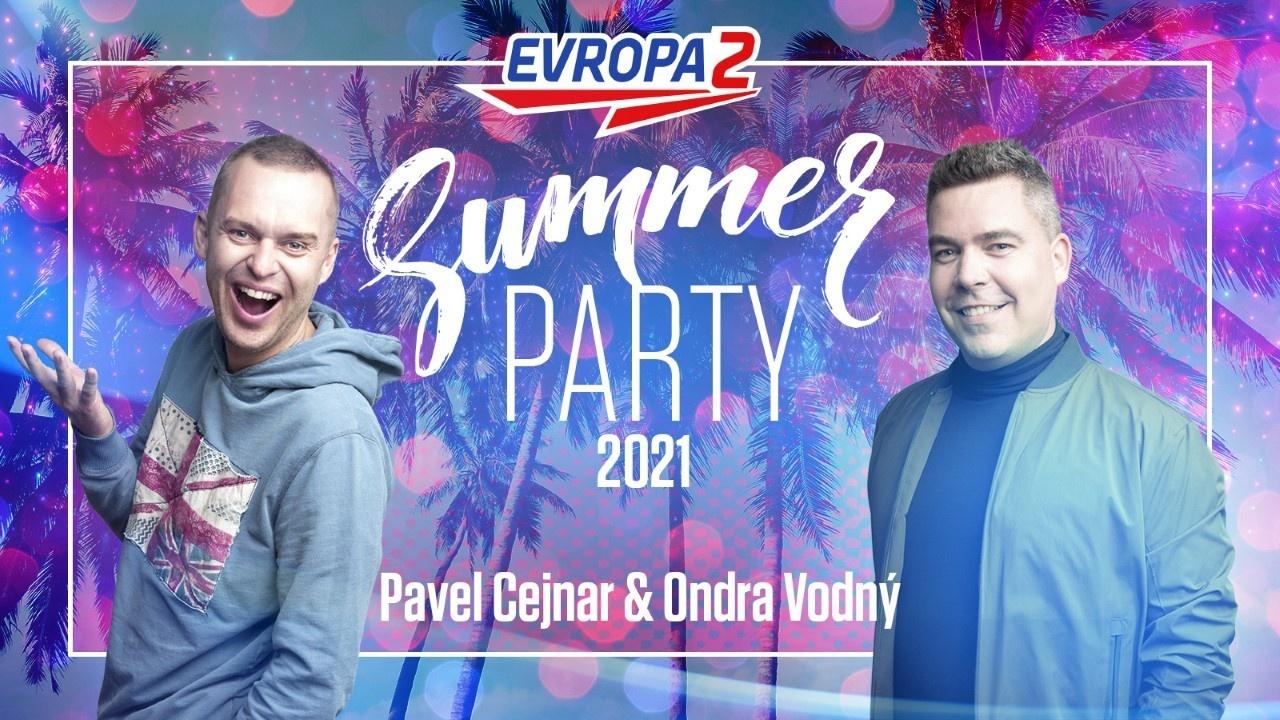 Ondra Vodný a Pavel Cejnar na rádiu Evropa 2: Summer Party 2021