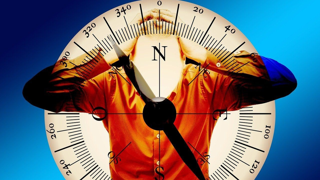 A person's confused inner compass