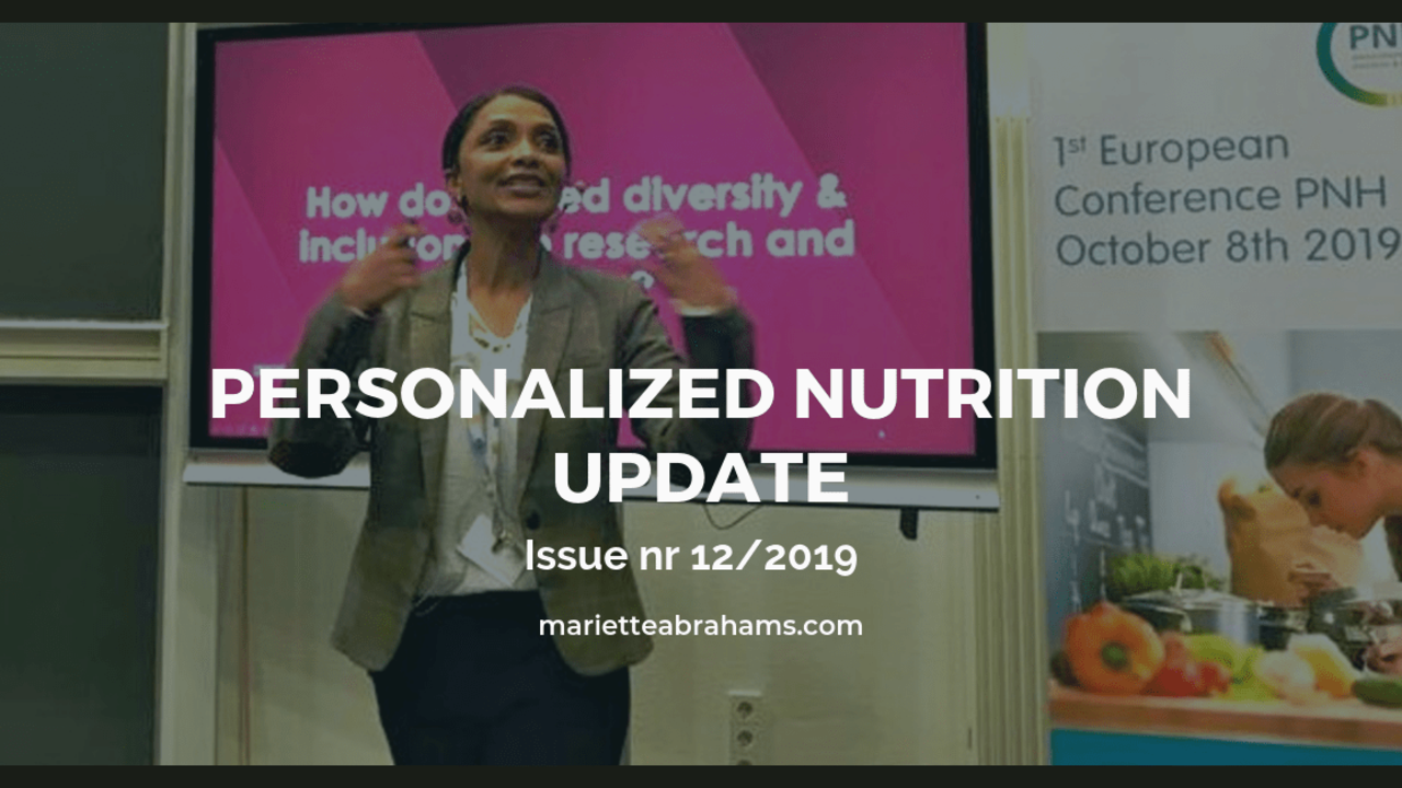 Personalized Nutrition Update issue nr. 12/19