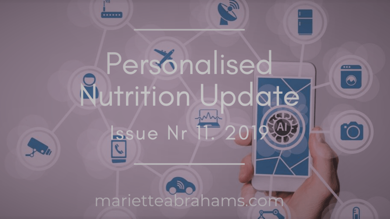 Personalized Nutrition Update issue nr. 11/19