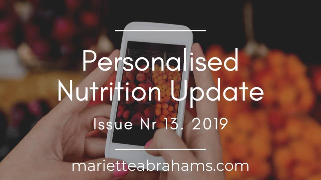 Personalized Nutrition Update issue nr. 13/19