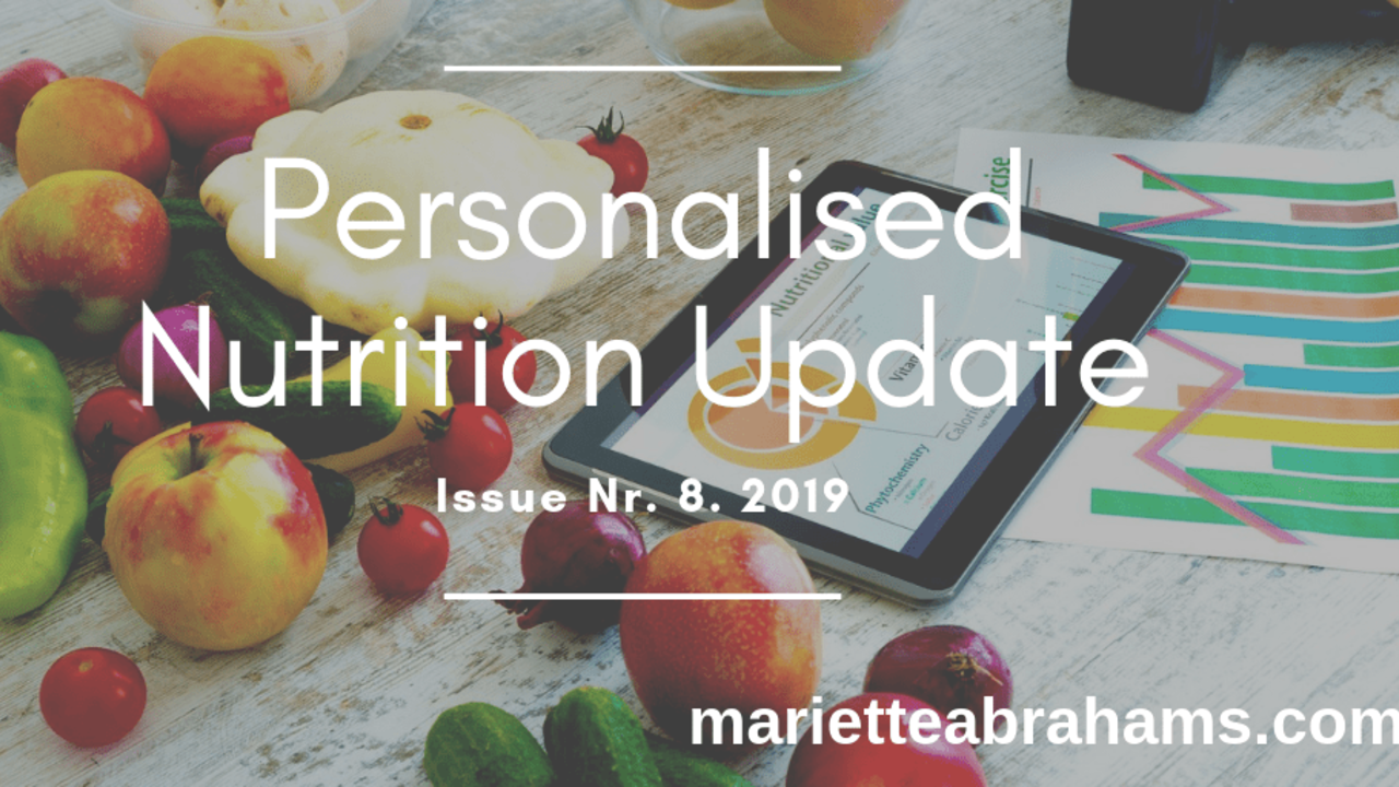 Personalized Nutrition Update issue nr. 8/19
