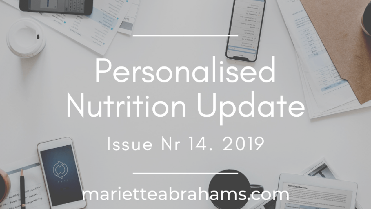 Personalized Nutrition Update issue nr. 14/19
