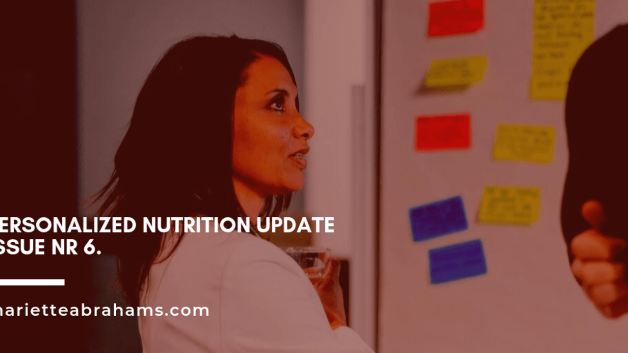 Personalized Nutrition Update issue nr. 6/19