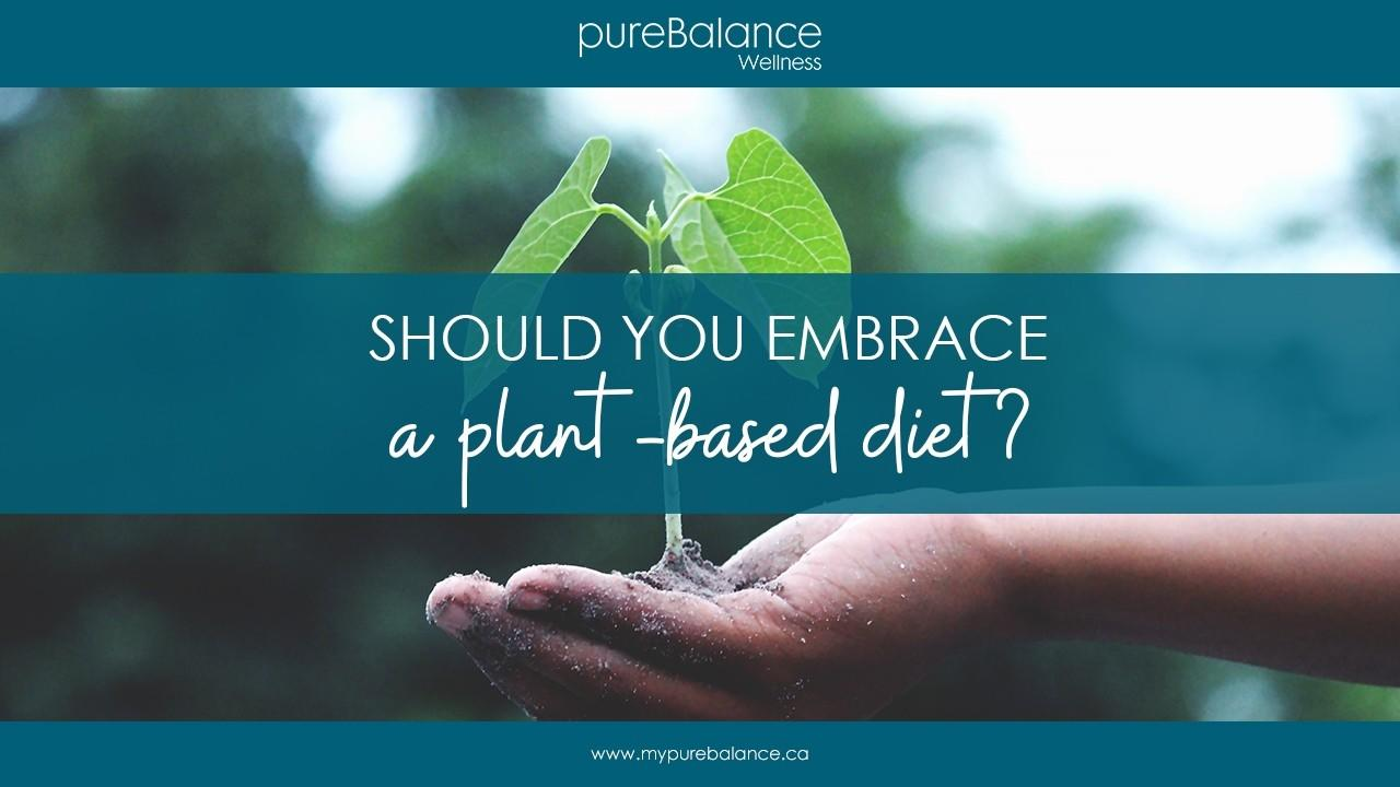 growing vegetable and soil held in palm of hand - Should You Embrace A Plant-Based Diet