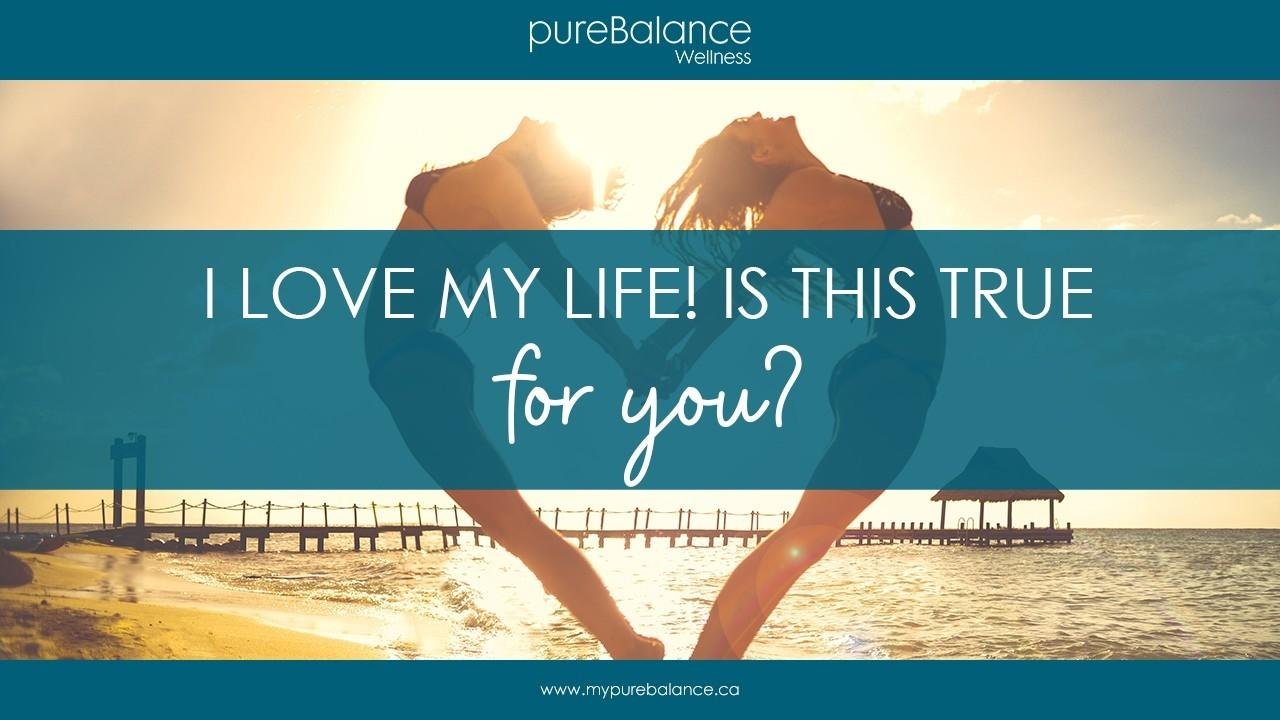 two girls jumping back to back in a heart shape - I love my life! Is this true for you?