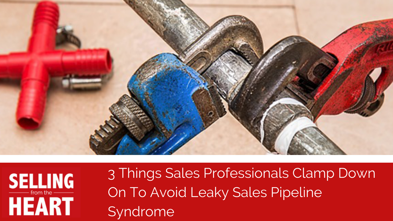 3 Things Sales Professionals Clamp Down On To Avoid Leaky Sales Pipeline Syndrome.