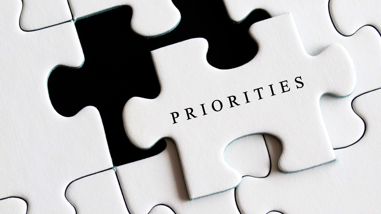 Puzzle Piece with Priorities Written