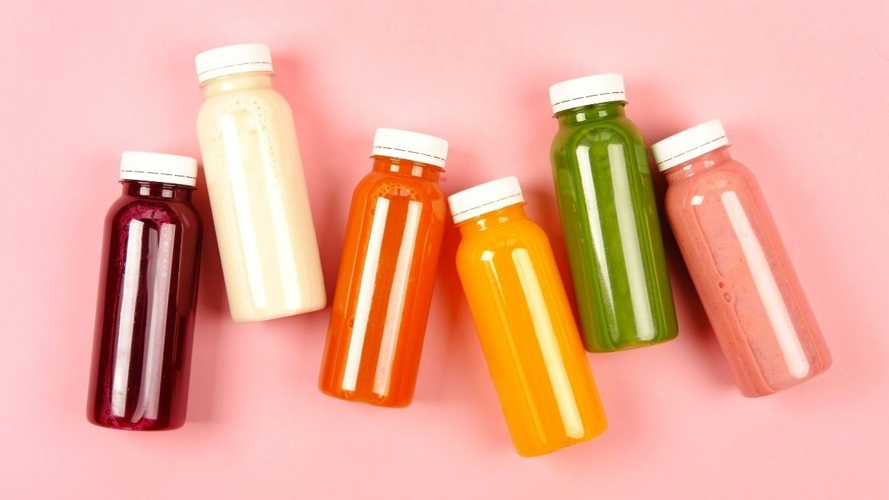 Colorful Variety of Healthy Juices