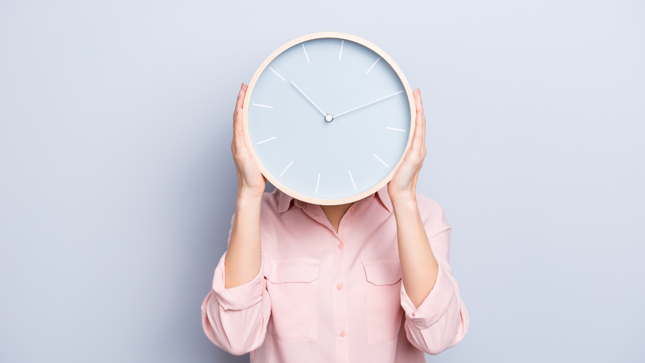 Woman with a Clock on her Face
