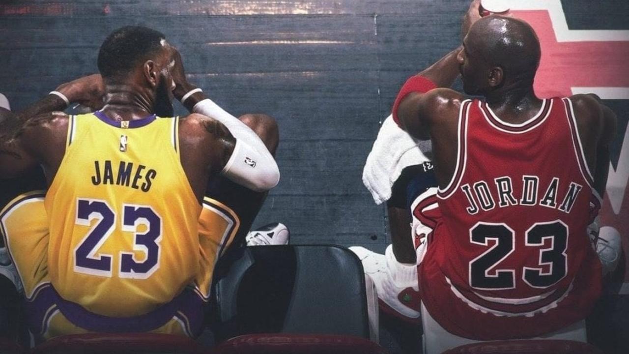 Via basketballforever.com side by side image of Lebron James and Michael Jordan