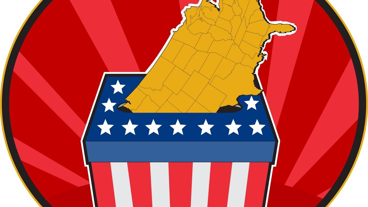 american election ballot box map of usa