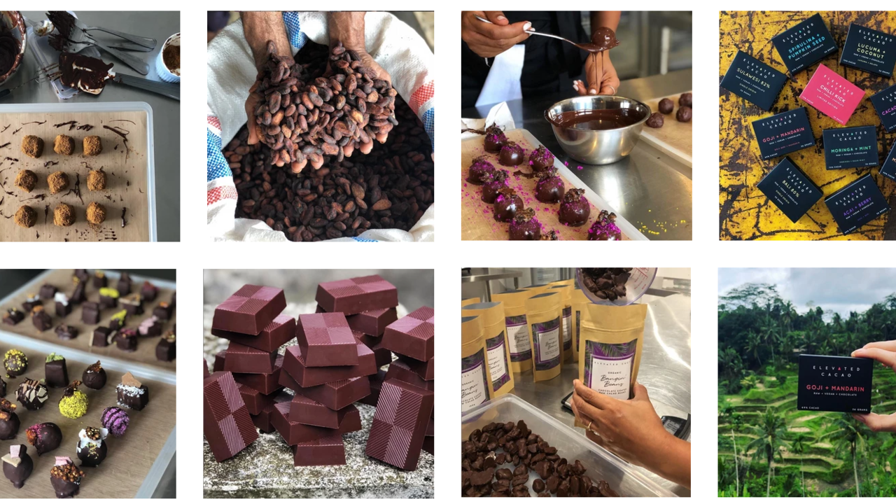 Raw Vegan Chocolate Love's Kitchen in Bali