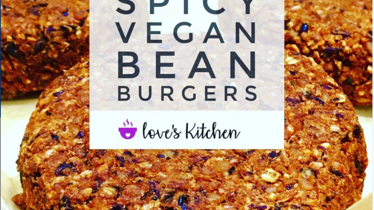 vegan bean burger loves kitchen