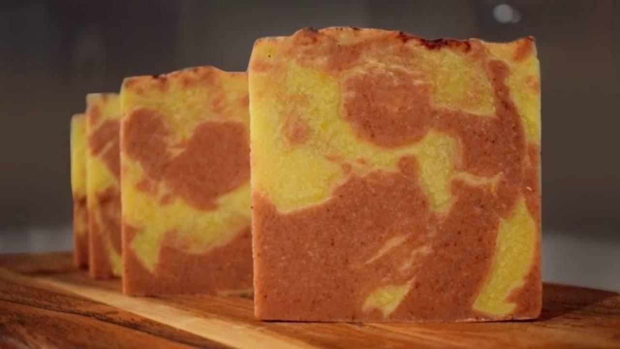 row of bars of fall medley soap