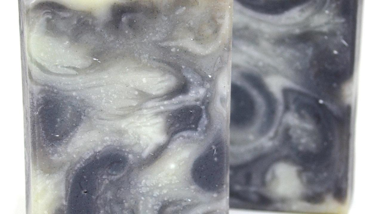 snow soap with indigo and cambrian clay