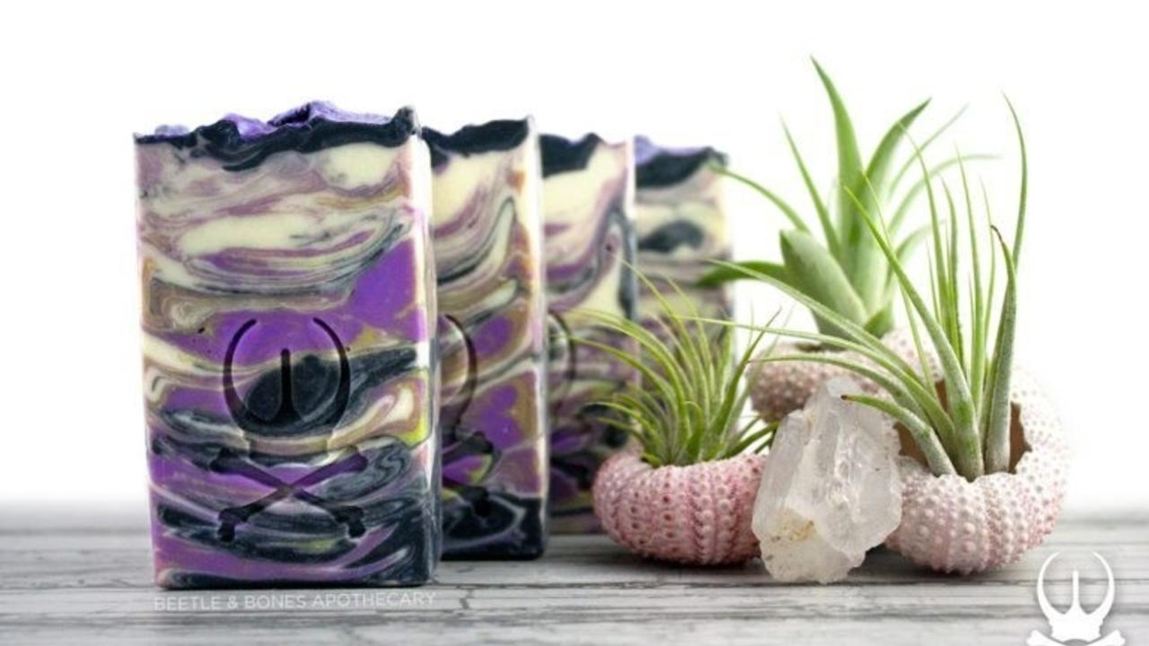 four bars of triple lavender soap