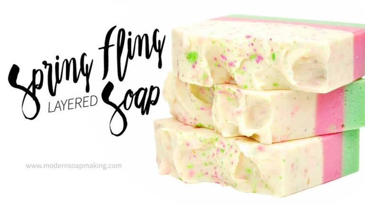 three bars of spring fling soap