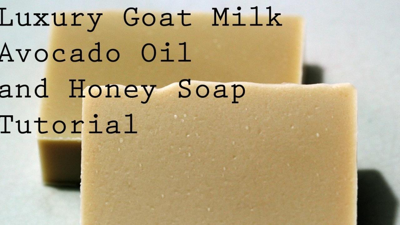 two bars of goat milk avocado and honey soap