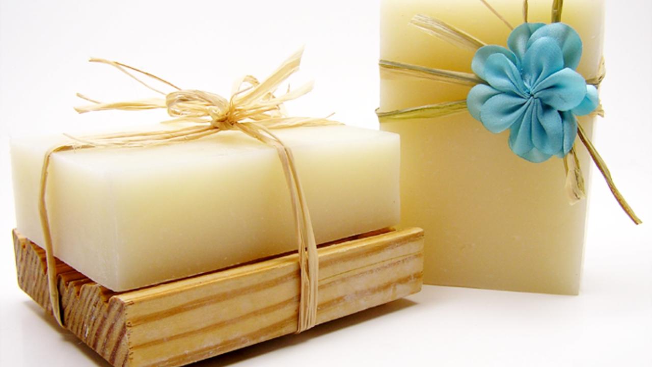 two bars of plain soap