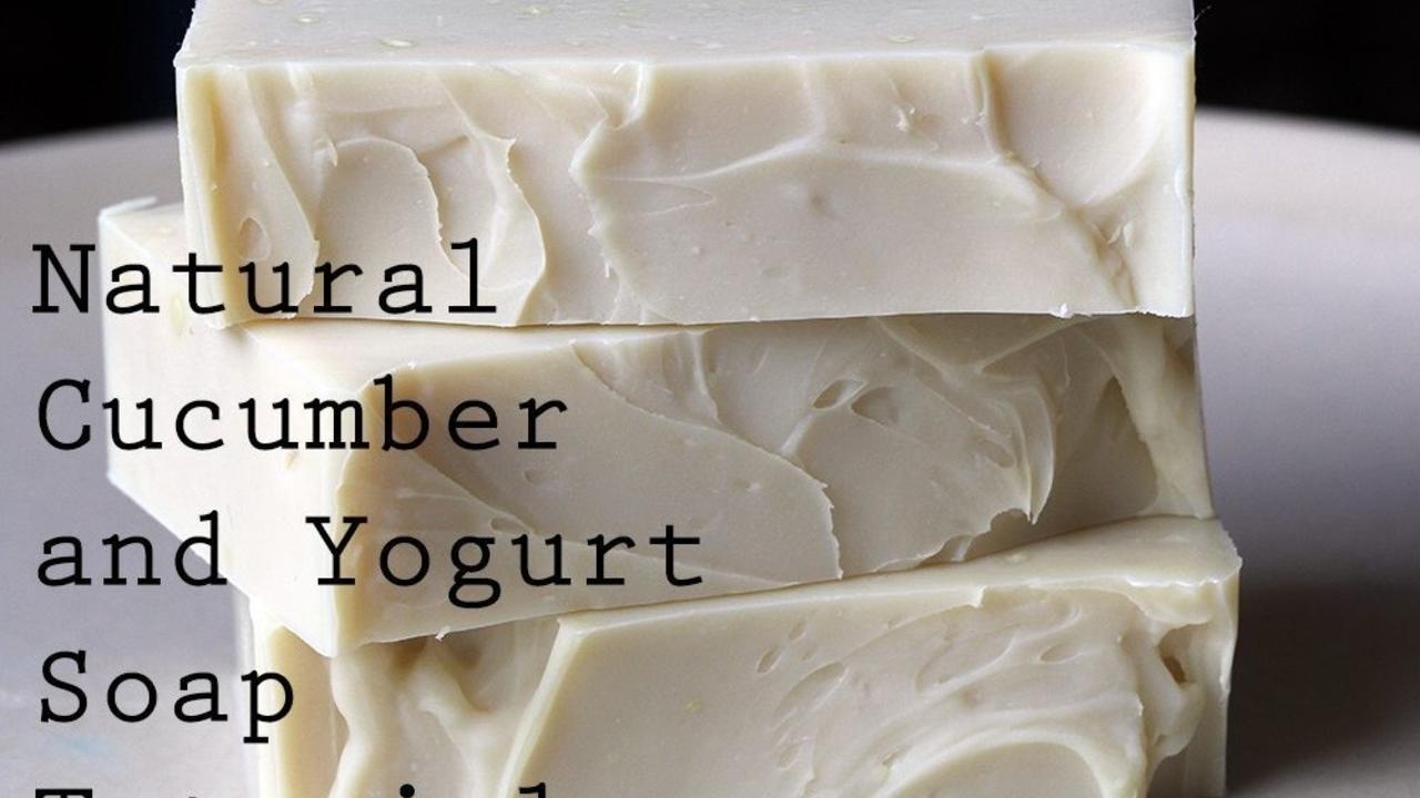 Three Bars of Cucumber and Yogurt Soap